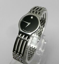 Womens Authentic Swiss Made MOVADO Esperanza Classic Stainless Steel Black Watch $195.79