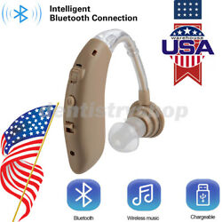 Digital Bluetooth Rechargeable Hearing Aid Mini In Ear Adjustable USB USPS $28.16