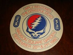 Rare GRATEFUL DEAD BACKSTAGE PASS OTTO Madison Square Garden NYC 9201982