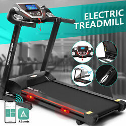 Super Large Motorized Electric Treadmill Folding Automatic Incline 12 RunningSet $699.99