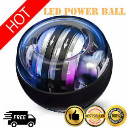 Auto start LED Power Gyro Force Wrist Ball Arm Exerciser Relieve Pressure $12.99