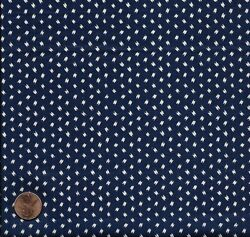 1920 Deep Blue and White Print Antique Fabric $25.00