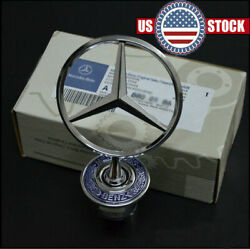 For Mercedes Benz Front Hood Ornament Mounted Star Logo Badge Emblem $20.49