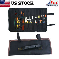 Electrician Tool Multi-function Pocket Bags Roll Up Storage Bags Organizer Pouch $10.47