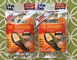 4 Pairs 8 Individual HotHands Adhesive TOE WARMERS - 2 2 pr packs Exp 0923 $9.00