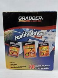 Grabber Hand Toe Body Warmers Variety Family Pack 30 Total New $23.39