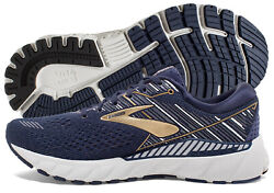 Brooks Adrenaline GTS 19 Mens Shoe NavyGoldGrey multiple sizes New In Box $89.95
