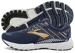 Brooks Adrenaline GTS 19 Mens Shoe Navy/Gold/Grey multiple sizes New In Box $89.95