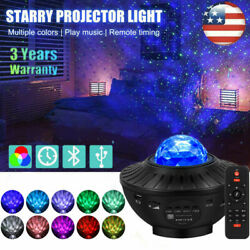 LED Galaxy Starry Night Light Projector Ocean Star Sky Party Speaker Lamp Remote $34.99