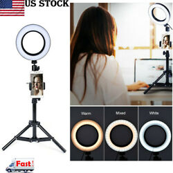 LED Ring Light Photo Video Studio Dimmable Lamp Tripod Selfie Stand Camera Phone $41.79