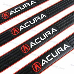 4PCS Black Rubber Car Door Scuff Sill Cover Panel Step Protector For Acura $17.38