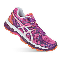 Asics Gel Kayano 20 Running Shoes Sneakers PinkWhitePurple Women 7.5 MSRP $160 $130.50