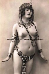 Exotic Nude Belly Dancer Girl PHOTO Vintage Egyptian Breasts Princess Art Print $3.88