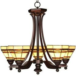 Addison 5-Light Oil Rubbed Bronze Chandelier with Tiffany Style Stained Glass  $236.75