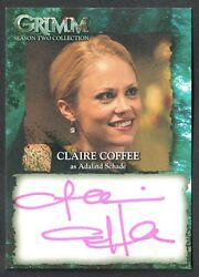 GRIMM SEASON 2 AUTOGRAPH CARD Breygent 2014 #CCA CLAIRE COFFEE as Adalind $25.50