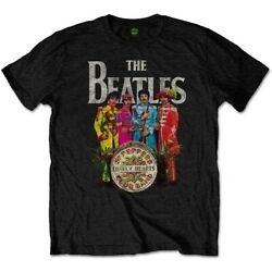 The BEATLES Official License Mens quot;Sgt Peppersquot; T Shirt Soft Cotton $16.95