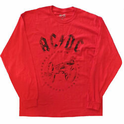AC DC Official License Mens For Those About To Rock Long Sleeve Shirt $7.95