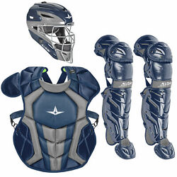All-Star System7 Axis NOCSAE Youth Catcher's Package - Navy $319.95
