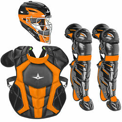 All-Star System7 Axis Travel Team NOCSAE Youth Catcher's Package - Black/Orange $349.95