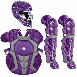 All-Star System7 Axis NOCSAE Youth Baseball Catcher's Package - Purple $364.85