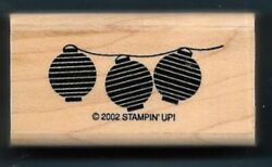 PAPER LANTERNS Lamps Oriental Asian Art NEW Stampin#x27; Up 2002 Hobby RUBBER STAMP $3.79