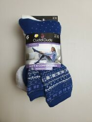 NWT Women#x27;s Cuddl Duds SOFT amp; COMFY MidWeight Crew 6Pair Pack Sz 4 10 Socks $15.26