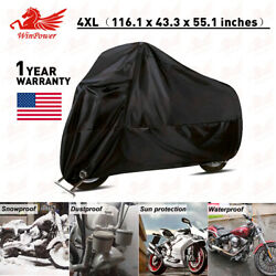 4XL Motorcycle Cover Waterproof For Harley Davidson Heavy Duty Anti Rain Snow US $26.69