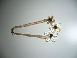 LADIES NECKLACE, CAROLINE,  GLASS WITH MAGNETIC CATCH. 460MM LONG. $42.39