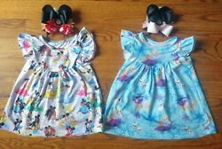 Toddler Sz. 2T 3T Girl Boutique Disney Dresses Tunic Shirt With hairbow... $30.00