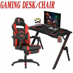 Computer Gaming Desk with Cup HolderGaming Racing Chair Ergonomic Adjustable $114.99