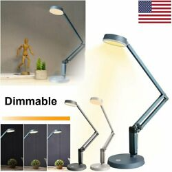 LED Dimmable Table Desk Lamp Swing Arm Adjustable Touch Control Reading Light $15.99