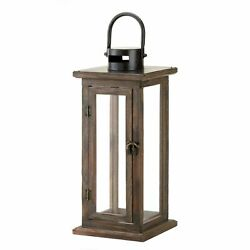 Rustic Style Wood Candle Lantern 16 inches $36.25