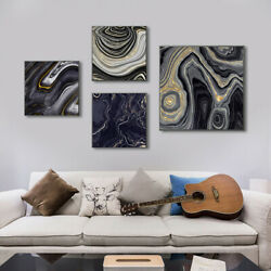 Black Gold Marble Fluid Painting Print Canvas Poster Picture Wall Home Art Decor $4.89