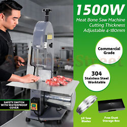 1500W Commercial Meat Bone Saw Machine Electric Bone Cutting Band Cutter 110V US