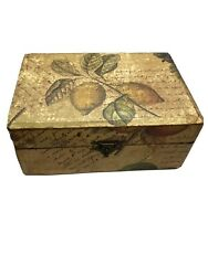 Tuscan like Look Jewelry Trinket Box With Faux Stain Wash Over Fruit Images NWOT $9.99