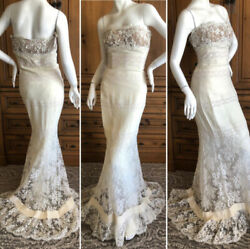 Valentino Vintage Lace Wedding or Evening Dress with Train $800.00