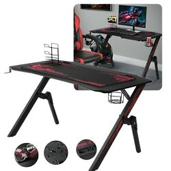 Gaming Desk Office Computer Table Ergonomic Racing Style Gamer Student Home Play $119.99