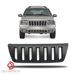 Fits Jeep Grand Cherokee 1999-2004 Front Upper Grille ABS Vertical Style Black $59.00