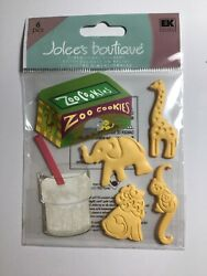 Jolee#x27;s Boutique 3D Stickers Animal Crackers Theme 81367 $3.45