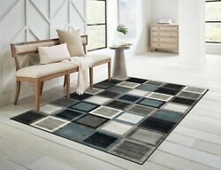 Modern Area Rugs for Living Room 8x10 MultiColored Dining Room Carpet 5x7 $99.98