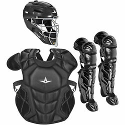 All-Star System7 Axis NOCSAE Youth Baseball Catcher's Set - Solid Black $349.95