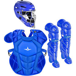 All-Star System7 Axis NOCSAE Youth Baseball Catcher's Set - Solid Royal $349.95