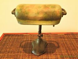Handel Summer Mountain Lake and Trees Desk Vintage Lamp Antique $1,550.00