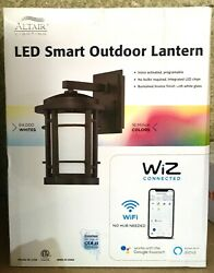 ALTAIR LED SMART OUTDOOR LANTERN WIZ CONNECTED WIFI open box $170.06
