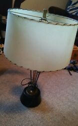 Neat Vintage Desk Table Lamp Fiberglass Shade 1950#x27;s Mid Century Modern $159.99