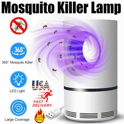 USB Electric Insect Mosquito Fly Killer Bug Zapper LED Light Indoor Pest Catcher $11.99