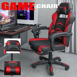 Office Computer Gaming Chair Racing Desk Seat Blue and Red $105.99