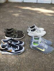 1 NikeID Air Max 90 hyperfuse 2 Nike and 1 adidas athlete shoes bundle size 9.5