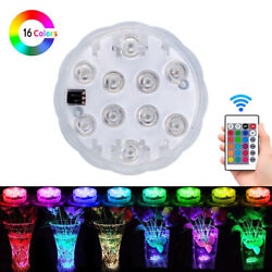 Submersible Swimming Pool Light Bulb RGB Remote Control Underwater LED Spa Lamp $9.99
