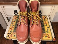 VTG Sears Boots 12 D Lace Up Brown leather Work Boots Motorcycle Hunting $99.99